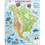 Larsen-A32-ES Frame Jigsaw Puzzle - América del Norte