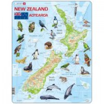 Puzzle  Larsen-A4-GB New-Zealand Physical With Animals