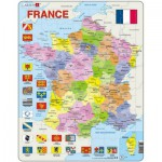 Larsen-A5-FR Frame Jigsaw Puzzle - France