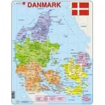 Larsen-A6-DK Frame Puzzle - Political Map of Denmark