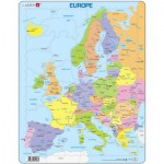 Larsen-A8-FR Frame Jigsaw Puzzle - Map of Europe (in French)