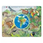 Puzzle  Larsen-AW5-FR Animals of South America (in french language)