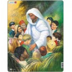 Larsen-C5 Frame Jigsaw Puzzle - Jesus with the Kids