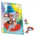 Larsen-CU2-2 Frame Jigsaw Puzzle - Cute Animals