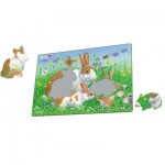 Larsen-CU3-2 Frame Puzzle - Cute Animals