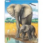Larsen-D8 Frame Jigsaw Puzzle - The Elephant