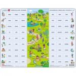 Larsen-EN12 Frame Jigsaw Puzzle - Learning English