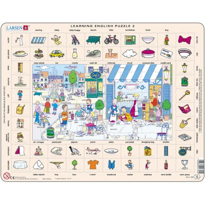 Larsen-EN2-GB Frame Jigsaw Puzzle - Learning English