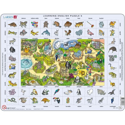 Larsen-EN5-GB Frame Jigsaw Puzzle - Learning English 5
