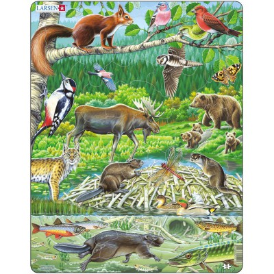 Larsen-FH15 Frame Jigsaw Puzzle - Nordic Forest