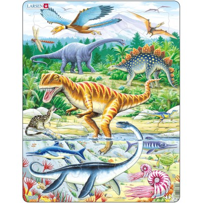 Larsen-FH16 Frame Jigsaw Puzzle - Dinosaurs