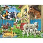 Larsen-FH23 Frame Jigsaw Puzzle - Farm Animals