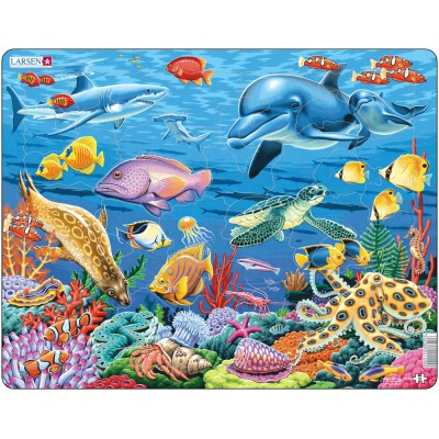 Larsen-FH29 Frame Jigsaw Puzzle - Coral Reef