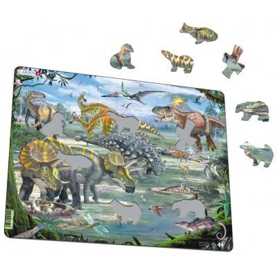 Larsen-FH31 Frame Jigsaw Puzzle - Dinosaurs