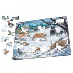 Larsen-FH34 Frame Puzzle - Siberian and Northeast Asian wildlife