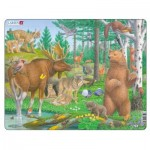 Larsen-FH36 Frame Jigsaw Puzzle - Forest Animals