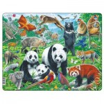 Larsen-FH43 Frame Puzzle - Panda Bear Family on a China Mountain Plateau