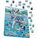 Larsen-FH47 Frame Jigsaw Puzzle - Humpback Whales in a School of Herrings