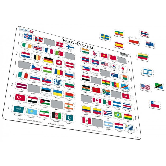 Frame Jigsaw Puzzle - Flags