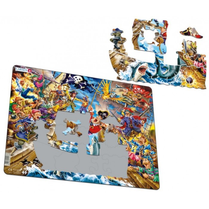 Frame Jigsaw Puzzle - Pirate Battle