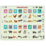 Frame Puzzle - MemoPuzzle: Mother and Baby Animal Duo