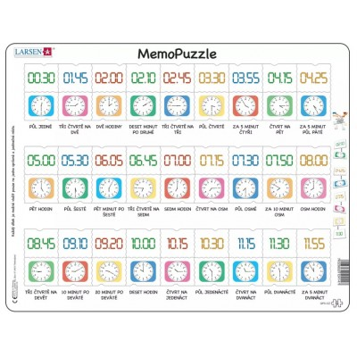 Larsen-GP5-CZ Frame Puzzle - MemoPuzzle (in Czech)
