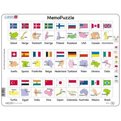 Larsen-GP6-NO Frame Puzzle - MemoPuzzle (in Norwegian)