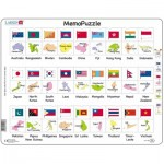 Larsen-GP7-GB Frame Puzzle - The Flags and Capitals of 27 Countries in Asia and the Pacific