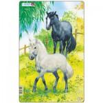 Larsen-H15-1 Frame Jigsaw Puzzle - Horses