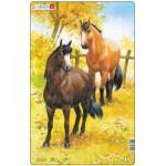 Larsen-H15-2 Frame Jigsaw Puzzle - Horses