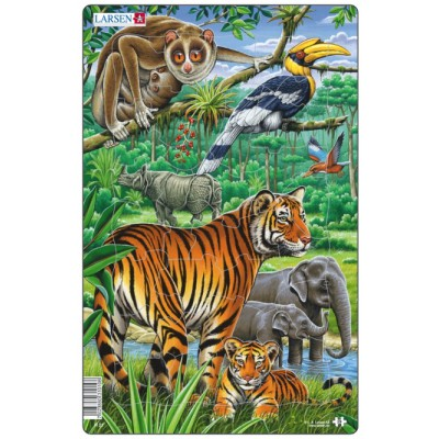 Larsen-H21-1 Frame Jigsaw Puzzle - Jungle