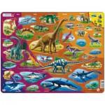 Larsen-HL1-NL Frame Puzzle - Dinosaurs (in Dutch)