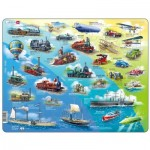 Larsen-HL7-ES Frame Jigsaw Puzzle - Historical Vehicles (in Spanish)