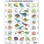 Larsen-HL9-DE Frame Puzzle - Dinosaurs (in German)