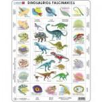 Larsen-HL9-ES Frame Puzzle - Dinosaurs (in Spanish)