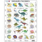 Larsen-HL9-FR Frame Puzzle - Dinosaurs (in French)