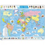 Larsen-K1-DE Frame Jigsaw Puzzle - The World Political (in German)