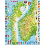 Larsen-K10 Frame Jigsaw Puzzle - Norway (in Norwegian)