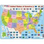 Larsen-K12 Frame Jigsaw Puzzle - United States of America