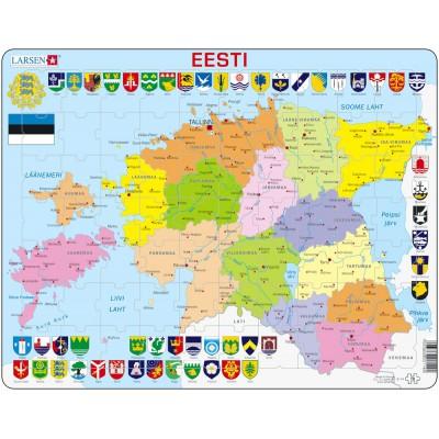 Frame puzzle estonia political map larsen k14 ee 70 pieces jigsaw frame puzzle estonia political map larsen k14 ee 70 pieces jigsaw puzzles world maps and mappemonde jigsaw puzzle gumiabroncs Images