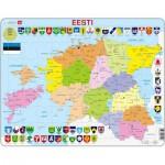 Larsen-K14-EE Frame Puzzle - Estonia Political Map