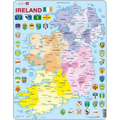 Larsen-K15-GB Frame Jigsaw Puzzle - Ireland Political