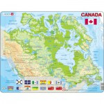 Larsen-K19 Frame Puzzle - Physical map of Canada (in French and English)