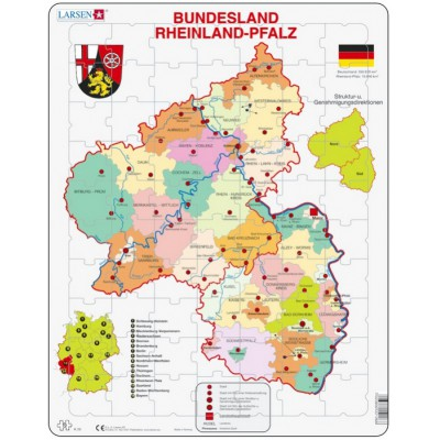 Puzzle Larsen-K26-DE Bundesland: Rheinland-Pfalz