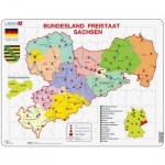 Puzzle  Larsen-K34-DE Bundesland: Freistaat Sachsen
