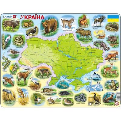 Larsen-K37-UA Frame Puzzle - Ukraine Physical with Animals