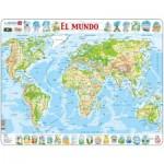Larsen-K4-ES Frame Puzzle - El Mundo (in Spanish)