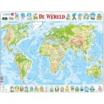 Larsen-K4-NL Frame Puzzle - De Wereld (in Dutch)