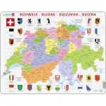 Larsen-K43-CH Frame Puzzle - Political Map of Switzerland