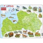 Larsen-K46 Frame Puzzle - Physical Map of Latvia